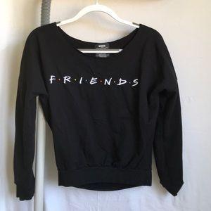 friends black sweater